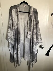 LuLaRoe Savannah L/xl Belted Kimono Kaftan Cover Up Wrap