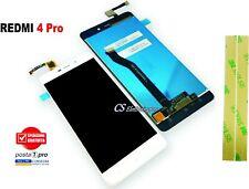 TOUCH SCREEN VETRO + LCD DISPLAY Per XIAOMI REDMI 4 PRO white + biadesivo