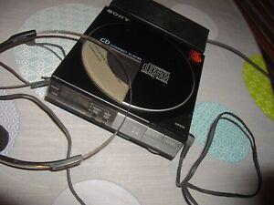 LECTEUR CD VINTAGE PLAYER SONY D-50 NOIR + DIGITAL AUDIO+ADAPTATEUR SONY AC-D50