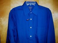 NWT NEW mens navy blue CROFT & BARROW l/s easy care classic fit dress shirt $32