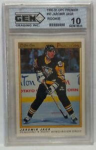 90-91 OPC Premier Jaromir Jagr Rookie 10 GEM MINT Penguins RC 1990