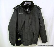 Mens ZeroXposur Winter Ski Jacket Sz Small Gray Powder Skirt Waist Cord NWT