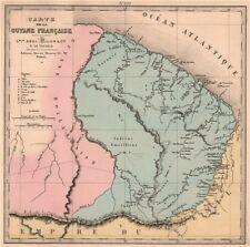 GUYANE FRANÇAISE. French Guiana. Missions. Indian villages. LE VASSEUR 1876 map