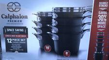 Calphalon Premier 12Pc Hard Anodized Nonstick Space Saving Cookware Set New