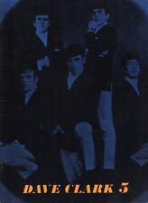 DAVE CLARK FIVE 1964 AMERICAN TOUR CONCERT PROGRAM BOOK / EX 2 NEAR MINT