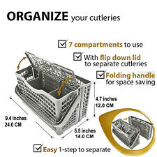2 In 1 Dishwasher Cutlery Basket Universal Brands 240mm x 140mm x 120mm Strong