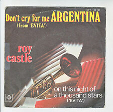 "Roy CASTLE Disque 45T 7"" Don't cry for me ARGENTINA From EVITA PYE Trompette"