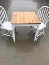 White Dining Table And 2 Chairs