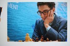 Gm fabiano caruana signed 20x30cm foto autógrafo Autograph ip8 Grandmaster Chess