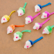 10Pcs False Fur Mice Cat Dog Funny Playing Toys Colorful Catnip Mice for Kittens