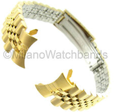 13mm Gilden Curved End Deployment Buckle Metal Gold Tone Ladies Watch Band 1048