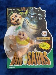 Disney 1991 Hasbro Dinosaurs BABY SINCLAIR Figure & McDonalds Happy Meal Toy
