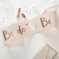Rose Gold Bride To Be Sash Pink Hen Party Decorations Blush Bachelorette Team