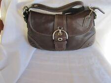 Coach Hampton Soho Brown Leather Hobo Shoulder Bag F10192