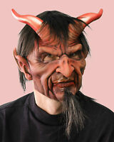 Wicked Horned Devil Adult Halloween Mask Supersoft Moves with Face