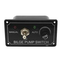 3Way MANUAL OFF AUTO DC 12V Fused Marine Bilge Pump Toggle Switch Panel with LED