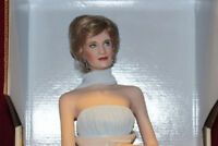 "17"" Princess Of Wales Porcelain Portrait Doll Elegance Diana,Franklin Mint,NIB"