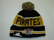 New Era MLB Pittsburgh Pirates Name Logo Cuffed Pam Knit Beanie Hat Cap NewEra