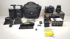 Nikon D7100 Digital SLR Kit Camera Lens VR DX AF-S 18-55mm Speedlite 8GB+16GB