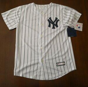 NY Yankees Youth Kids Boys Jersey White MLB Size Medium