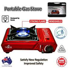 NEW MODEL Portable Gas Burner Stove Cooker Butane AGA APPROVE Camping Windshield