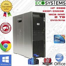 Estación de trabajo PC rápido HP Z600 Xeon E5530@2.4GHz, 12GB, 2TB, Win10, ATI V5700 Gfx