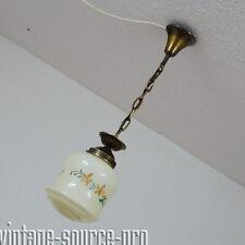 alte Opalglas Decken Hängeleuchte Hängelampe Pendel Kugel Lampe Art Dèco 30er J.