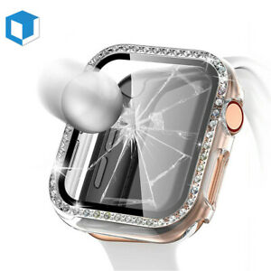 For iWatch Apple Watch Series 6 -44mm Protector Cover Hard Case with Screen Film