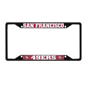 Fanmats NFL San Francisco 49ers Black Metal License Plate Frame Del. 2-4 Days