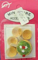 Dollhouse Miniature Salad & 4 Bowls Set 1:12 Scale New VINTAGE