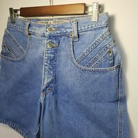 Vintage Zena Jeans High Waisted Mom Jeans Shorts 28 Inch 2 Button Fly Darting