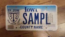 2000s IOWA Ex Pow Sample License Plate