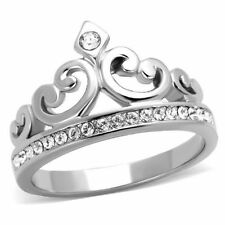 Cubic Zirconia Stainless Steel Statement Fashion Rings