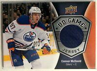 2016-17 Connor Mcdavid Upper Deck UD Game Jersey #GJ-CM Edmonton Oilers
