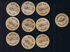 AH-64 Apache Army Helicopter Tokens (x20)