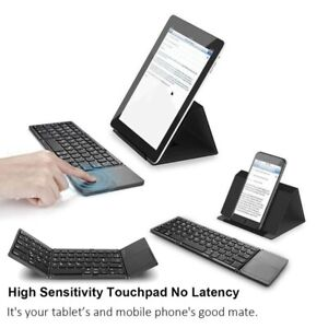 Wireless Foldable Bluetooth Keyboard with Touchpad for iOS, Android, Windows
