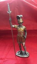 "Medieval War Spartan with Helmet  Pewter 4.5"" Statue Made By Veronese Company"
