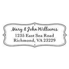 Designer Customized Ideal 4912 Return Address Withhisampher Name Self Inking Stamp