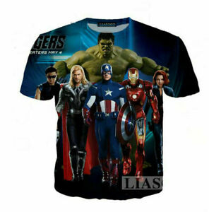 Women Men Casual 3D T-Shirt The Avengers Comic Print Short Sleeve Tops Tee