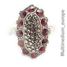 Art Deco Silber Ring Granat Markasiten silver ring garnet marcasites