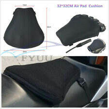 Black 3D Mesh Cloth TPU L Size 32*32cm Motorcycle Seat Chshion Cover Universal*1