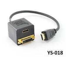 HDMI Male to DVI-D (Digital)/ HDMI Dual Female Y-Splitter Adapter Cable, YS-018
