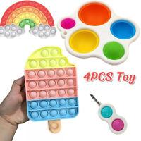 4Pack Fidget Toys Set Sensory Tools Bundle Stress Relief Hand Kids Adults Toys