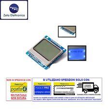 MODULO DISPLAY LCD 5110 NOKIA 84x48 PIXEL RETROILLUMINAZIONE BLU LED PER ARDUINO