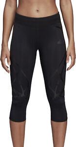 adidas Adizero SprintWeb 3/4 Capri Recycled Womens Running Tights - Black
