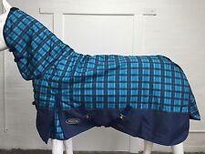 AXIOM 1800D BALLISTIC BLUE CHECK/NAVY 220g HORSE COMBO RUG - 5' 0