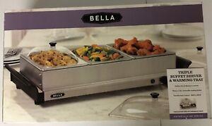 Bella Triple Buffet Server And Warming Tray three 1.5 Qt.