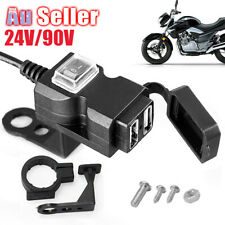 Dual USB Port Mounts Handlebar For Socket Charger Phone Motorcycle Adapter