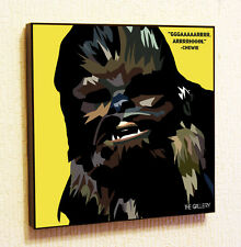 Chewie Star Wars Painting Decor Print Wall Pop Art Poster Canvas Quote Chewbacca
