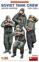 Miniart 37063 Soviet Tank Crew 1970-80s in Winter Uniform 1/35 Scale